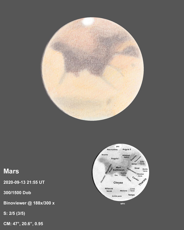 Mars 2020-09-13 21:55UT