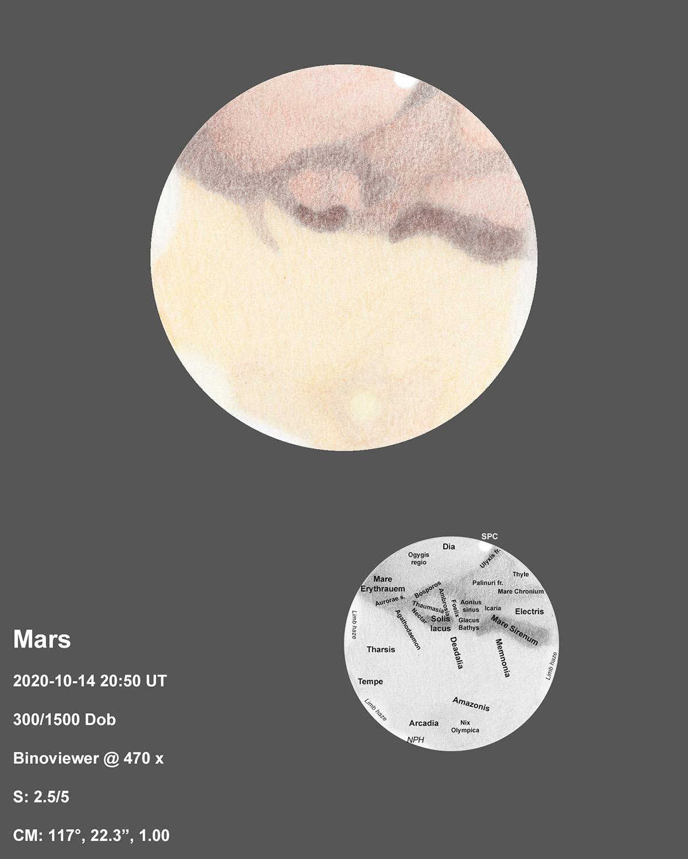 Mars 2020-10-14 20:50UT