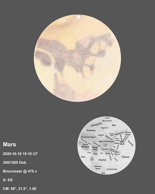 Mars 2020-10-18 19:10UT
