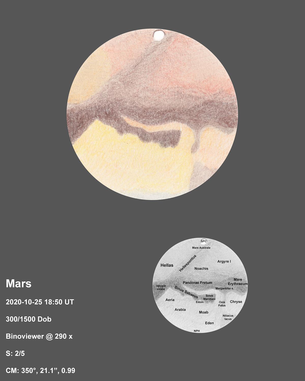 Mars 2020-10-25 18:50UT
