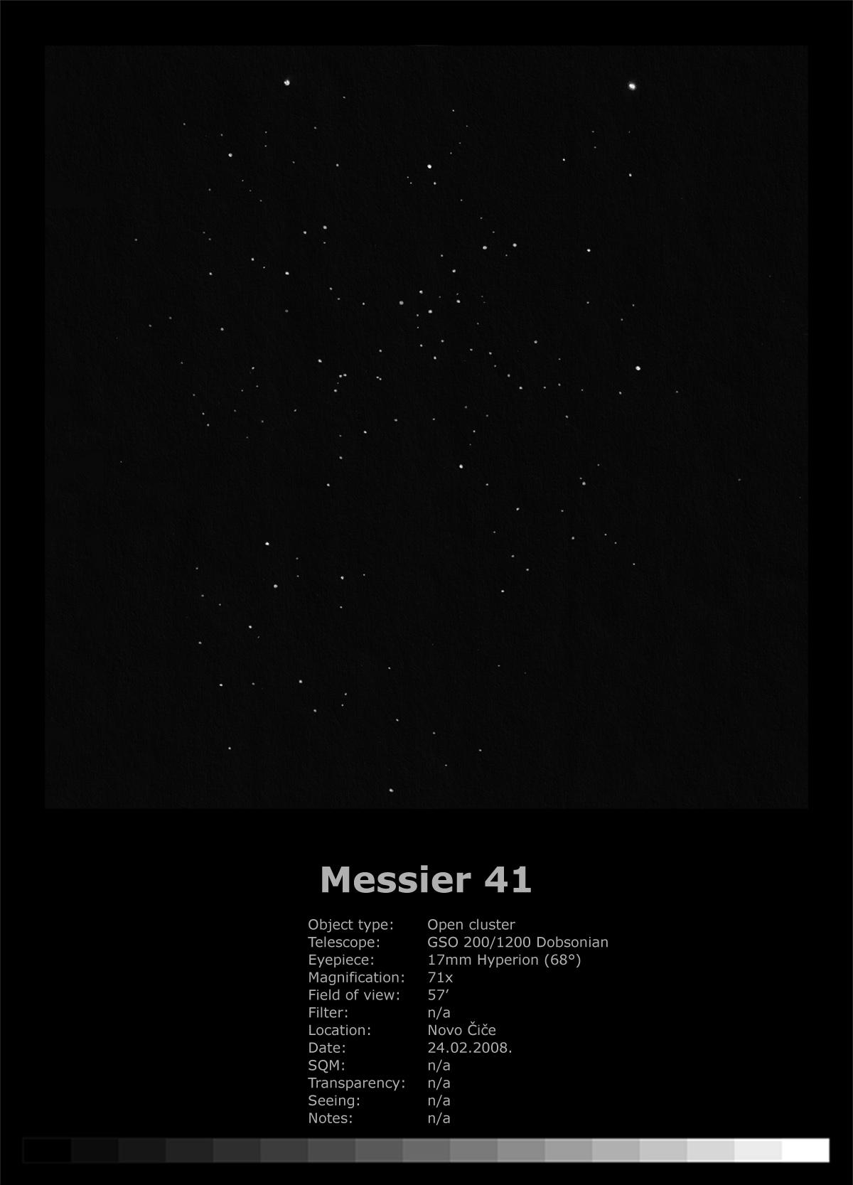 Messier 41 (2008)