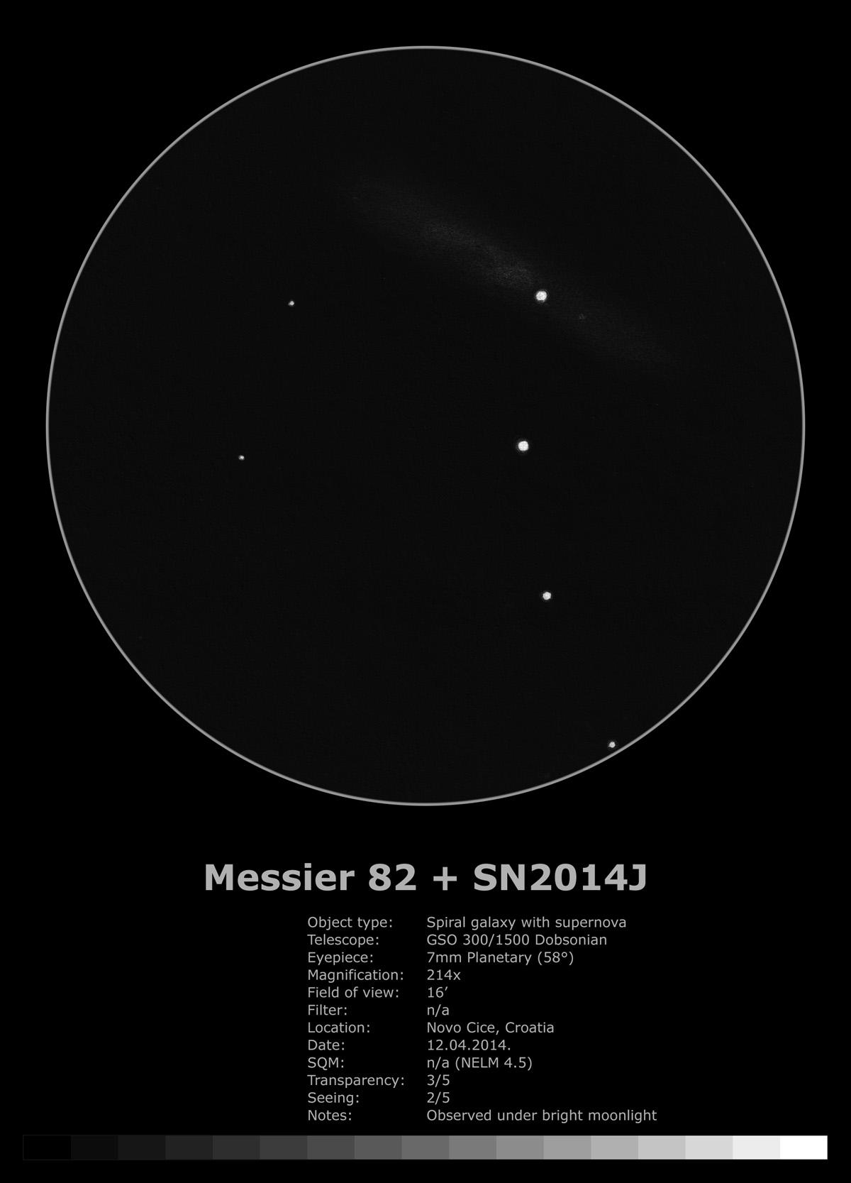 Messier 82 SN2014J (2014)